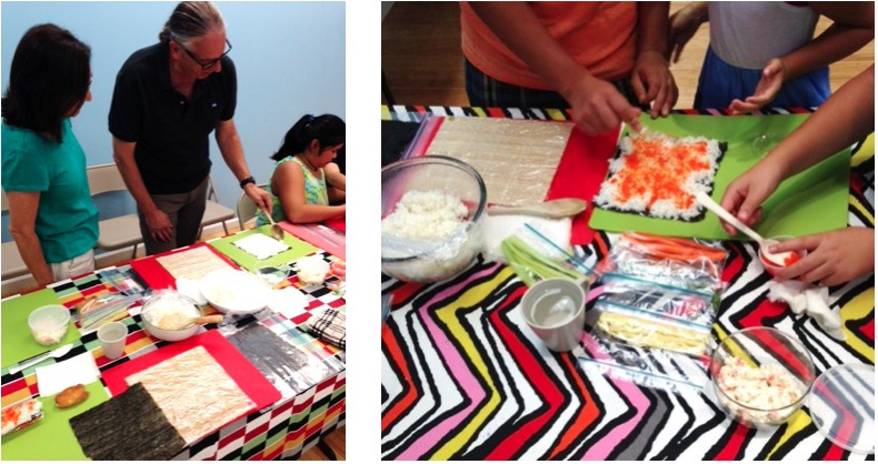 guests-preparing-sushi-at-the-arts-center-for-all
